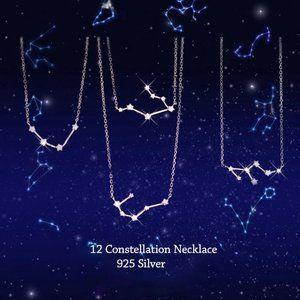 Jewelry - Sterling Silver Diamond Zodiac Necklace--Cancer